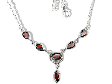 Design 12706: red garnet necklaces