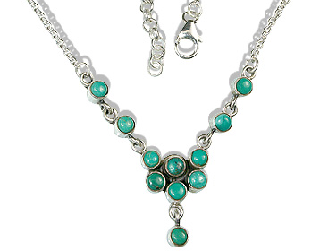 Design 12707: green turquoise necklaces
