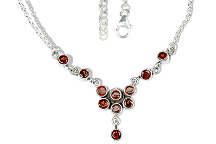 Design 12708: red garnet necklaces