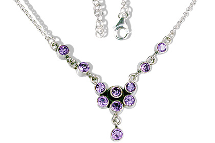 Design 12709: purple amethyst necklaces