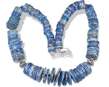 Design 12756: blue lapis lazuli necklaces