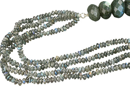 Design 12868: blue,gray labradorite contemporary necklaces