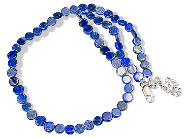 Design 12881: blue lapis lazuli simple-strand necklaces