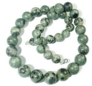 Design 12885: green jasper necklaces