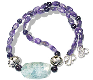 Design 12891: green,purple amethyst necklaces