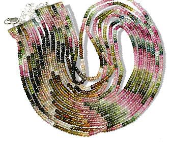 Design 13201: multi-color tourmaline classic necklaces