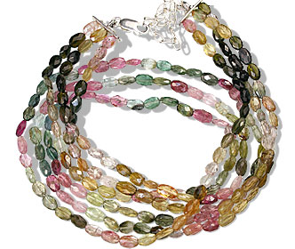 Design 13203: multi-color tourmaline classic necklaces