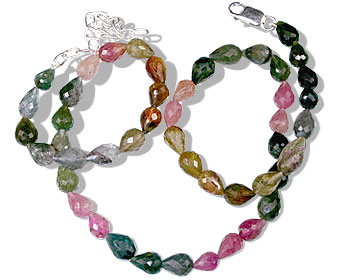 Design 13204: pink,multi-color tourmaline classic necklaces