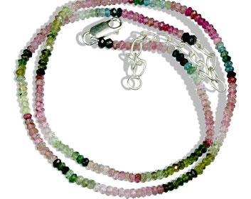 Design 13246: multi-color tourmaline classic necklaces