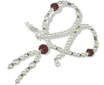 Design 13252: multi-color multi-stone classic necklaces