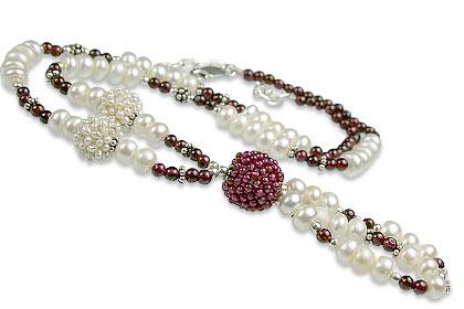 Design 13253: multi-color multi-stone classic necklaces