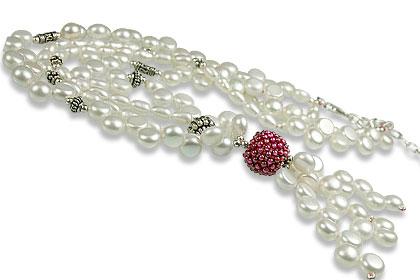 Design 13255: multi-color multi-stone classic necklaces