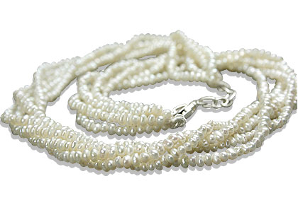 Design 13258: white pearl classic necklaces
