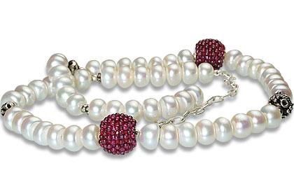 Design 13261: multi-color multi-stone classic necklaces