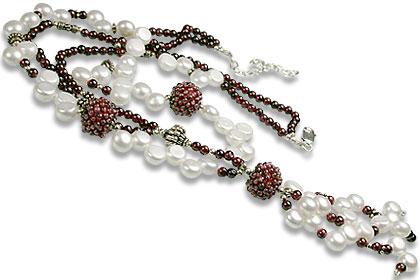 Design 13264: multi-color multi-stone classic necklaces