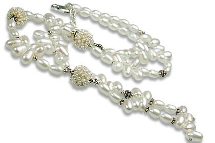 Design 13269: white pearl classic necklaces