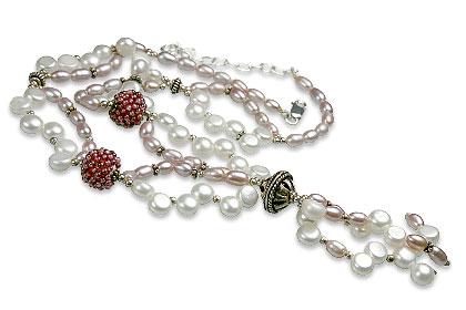 Design 13272: multi-color multi-stone classic necklaces