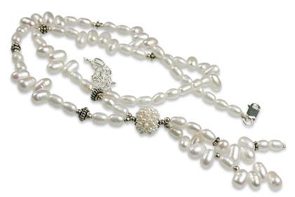 Design 13276: white pearl classic necklaces