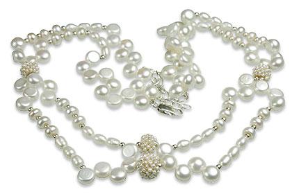 Design 13277: white pearl classic necklaces