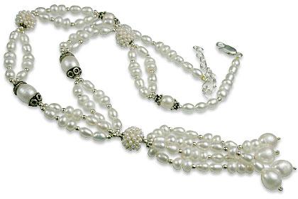 Design 13284: white pearl classic necklaces