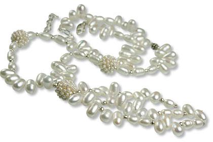 Design 13296: white pearl necklaces
