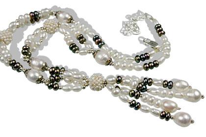 Design 13299: white pearl staff-picks necklaces