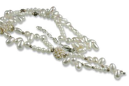 Design 13302: white pearl necklaces