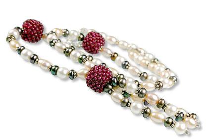 Design 13304: multi-color multi-stone classic necklaces
