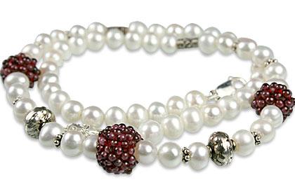 Design 13309: multi-color multi-stone classic necklaces