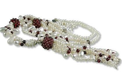 Design 13311: multi-color multi-stone classic necklaces