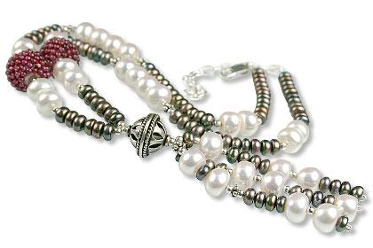 Design 13312: black,white,multi-color multi-stone classic necklaces