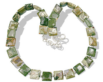 Design 13546: green jasper necklaces