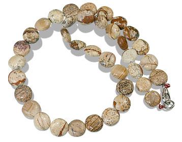 Design 13575: brown jasper mens necklaces