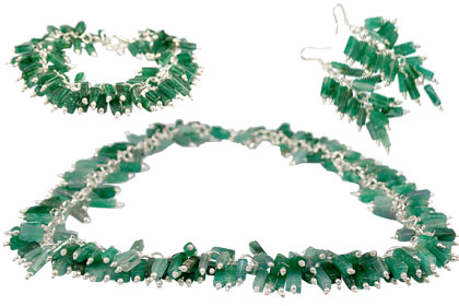 Design 14002: green aventurine contemporary necklaces