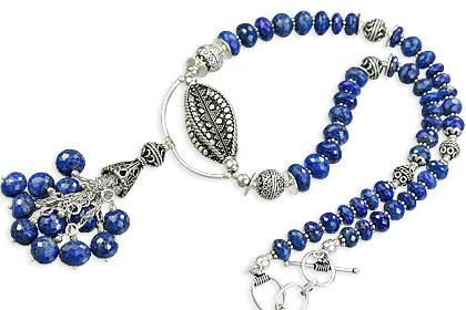 Design 14080: blue lapis lazuli classic necklaces