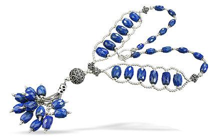 Design 14084: blue lapis lazuli necklaces