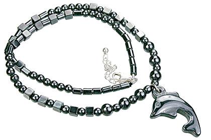 Design 14090: black,gray hematite charm, mens, pendant necklaces