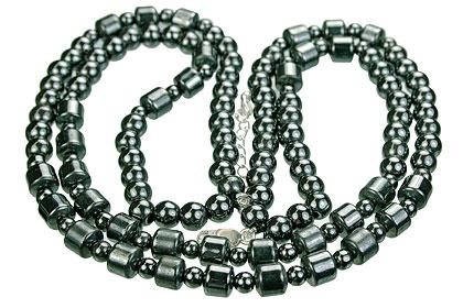 Design 14097: black,gray hematite charm, mens, pendant necklaces