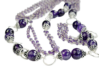 Design 14108: purple amethyst necklaces