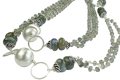 Design 14109: green,gray labradorite contemporary necklaces