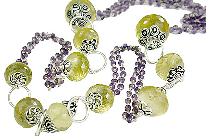 Design 14110: purple,multi-color multi-stone staff-picks necklaces