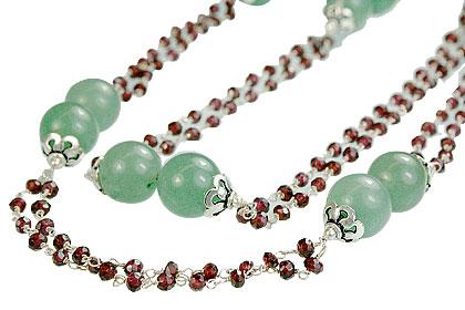 Design 14125: multi-color multi-stone necklaces