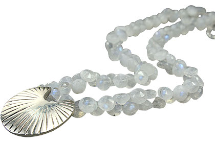 Design 14506: white moonstone necklaces