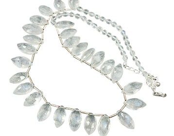 Design 14508: white moonstone necklaces