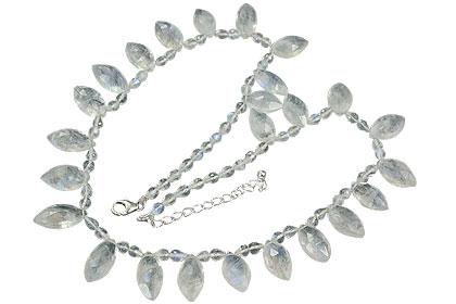 Design 14509: white moonstone necklaces