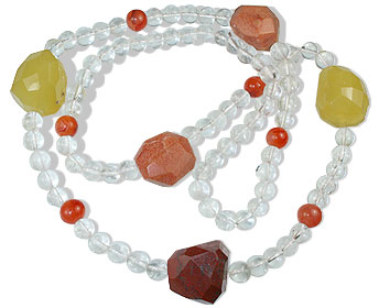 Design 14816: multi-color crystal necklaces
