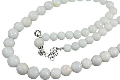 Design 14833: white snow quartz necklaces