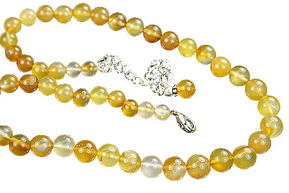 Design 14844: yellow chalcedony necklaces