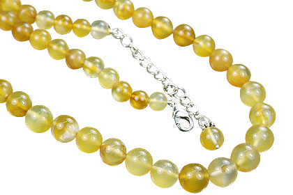 Design 14857: yellow chalcedony necklaces