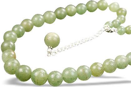 Design 14861: green aventurine necklaces